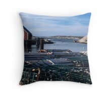 Peggy's Cove Inlet Throw Pillow