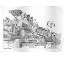 Capri Ferry Wharf, Sorrento, Italy Poster