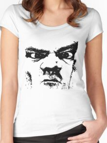 What u r looking at?! Women's Fitted Scoop T-Shirt