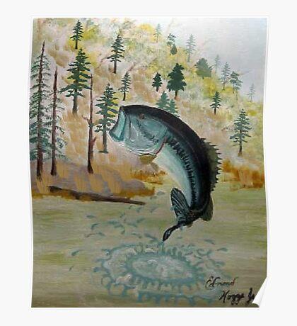 Largemouth Bass Painting Poster