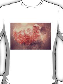 Rain Red Roses Pastel T-Shirt