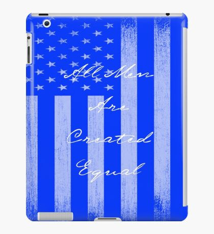 Vintage All Men Created Equal US Flag iPad Case/Skin