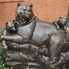 Bear Sculpture, Sculpture Garden, Canyon Road, Santa Fe, New Mexico by lenspiro