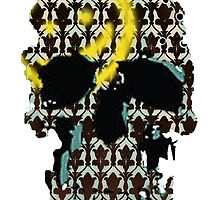 Sherlock's Skull and Wallpaper by Emma Anderson