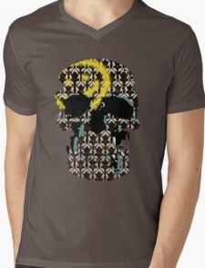Sherlock's Skull and Wallpaper Mens V-Neck T-Shirt