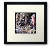 Heads Down, Bums Up - Shearing - TTV Framed Print
