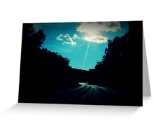 before the end of the road Greeting Card