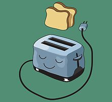 Happy Toaster by Nathanael Mortensen