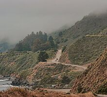 Pacific Coast Highway Near Big Sur, California by Susan Russell