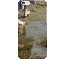 Walking by Rock Pool iPhone Case/Skin