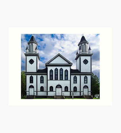 Churches of the French Shore (1) Art Print