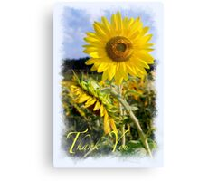 Thank You for Standing by me Canvas Print