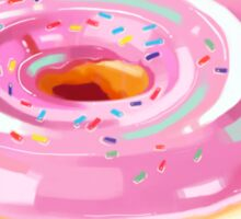 Pink Frosted Heart Donut Sticker