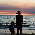Mother and child - Darwin sunset by Jenny Dean