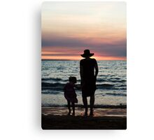 Mother and child - Darwin sunset Canvas Print