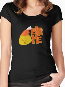 Bite Me - Candy Corn Women's Fitted Scoop T-Shirt