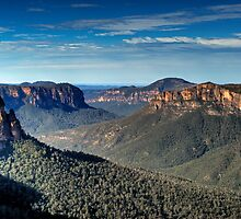 Grose Valley | Blue Mountains Australia | Govetts Leap by DavidIori