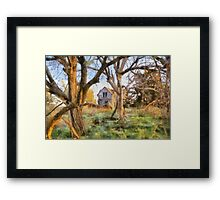 """ Old House Painted "" Framed Print"