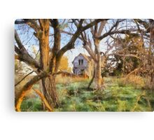 """ Old House Painted "" Canvas Print"