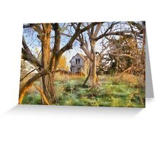 """ Old House Painted "" Greeting Card"