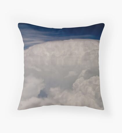 A storms a brewin over Kansas! Throw Pillow