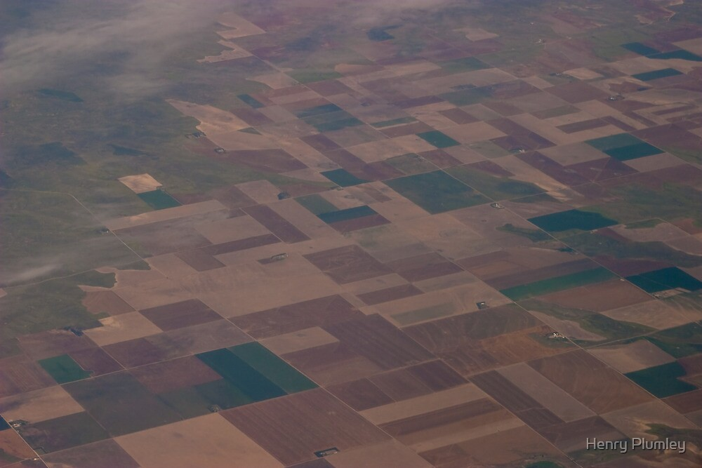 No circles here on the farmlands of America by Henry Plumley