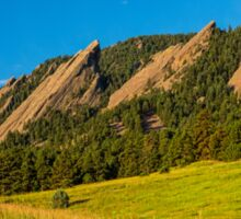Boulder Colorado Flatirons Sunrise Golden Light Sticker