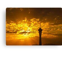 Final sunrise on final day in Las Vegas, Nevada 2010 Canvas Print