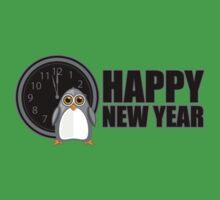 Happy New Year - Penguin Kids Tee