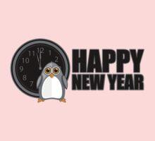 Happy New Year - Penguin One Piece - Short Sleeve