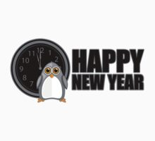 Happy New Year - Penguin Kids Tee