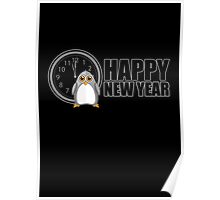 Happy New Year - Penguin Poster