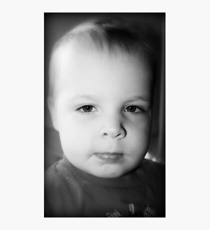 Jeremy's Portrait In Black And White Photographic Print