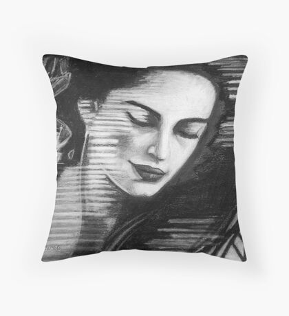 Thinking of You Thinking of Me Throw Pillow