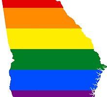 LGBT Flag Map of Georgia  by abbeyz71