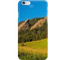 Boulder Colorado Flatirons Sunrise Golden Light iPhone Case/Skin