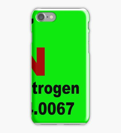 Nitrogen Periodic Table of Elements iPhone Case/Skin