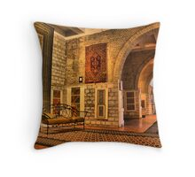 HDR HDRI carpet museum warm colors frog perspective Throw Pillow