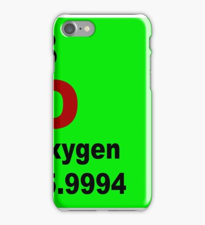 Oxygen Periodic Table of Elements iPhone Case/Skin