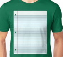 Blank Page Unisex T-Shirt