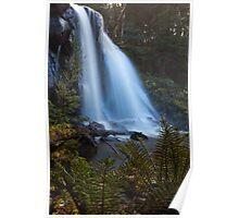Hidden Falls Silk Poster