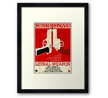 LETHAL WEAPON Framed Print