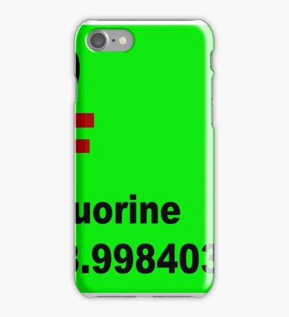 Fluorine Periodic Table of Elements iPhone Case/Skin