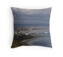 Eastbourne with the Red Arrows Throw Pillow