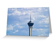 The Stratoshpere Hotel and Casino from downtown Las Vegas, Nevada Greeting Card