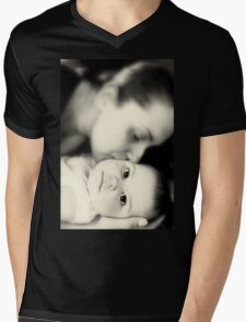 Mother and Child Mens V-Neck T-Shirt