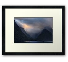 Glacial Valley Framed Print