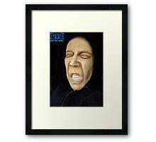Clay sculpture, portrait, caricature  Framed Print