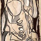 Abstract Nude 3 (paint sketch) by Simon Kidd