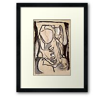 Abstract Nude 3 (paint sketch) Framed Print